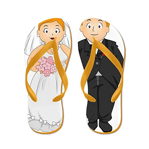 c2f5271be7eb3 low-cost CafePress - Bride And Groom - Flip Flops