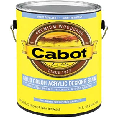 Cabot Stain 41806 Neutral Base Solid Color Decking Stain W/ Surface Protector Size:quart.