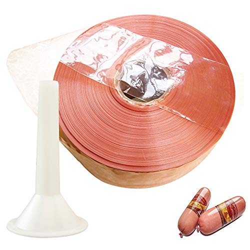 GDCB 10m Sausage Casings, 120mm Natural Hog Sausage Casing Coat Meat Processing Cooking Home Garden Kitchen Dining Kitchen Tools with Funnel