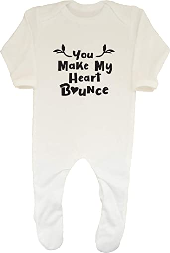 Shopagift Baby Paw Prints Sleepsuit Romper