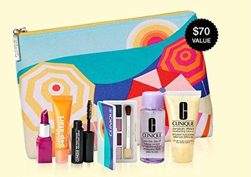 Clinique 2017 Gift Set 7 Pcs Primer Lipstick Eyeshadow Palet