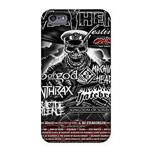 Perfect Hard Cell-phone Cases For Iphone 6plus With Custom Lifelike Mayhem Band Image MarieFrancePitre