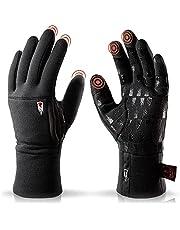 THE HEAT COMPANY Merino Liner Pro Warme merinohandschoenen, kwaliteit uit de Alpen, touchscreen-winterhandschoen van wol: dames, heren, loophandschoen, fietshandschoen, sporthandschoen, zwart