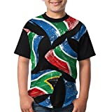 Ij9 Shirts Africa Flag South Boy Girls 3D Printing Summer Round Neck T Shirts Funny Short-Sleeve T-Shirts