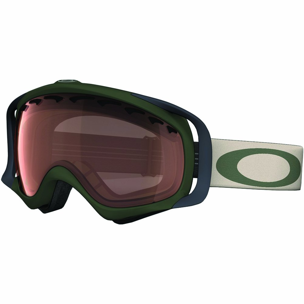 Oakley Crowbar Surplus Adult Snocross Snowmobile Goggles Eyewear - Green/VR28 / One Size Fits All