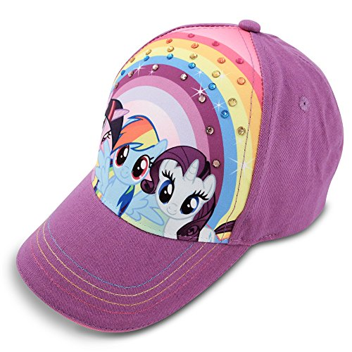 Hasbro Girls' My My Little Pony Baseball Cap, Purple, Age 4-7 -