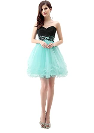 Annas Bridal Womens Organza Short Homecoming Dresses Prom Gowns: Amazon.co.uk: Clothing