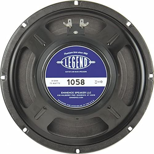 "Eminence Legend 1058 10"" Guitar Speaker, 75 Watts at 8 Ohms"