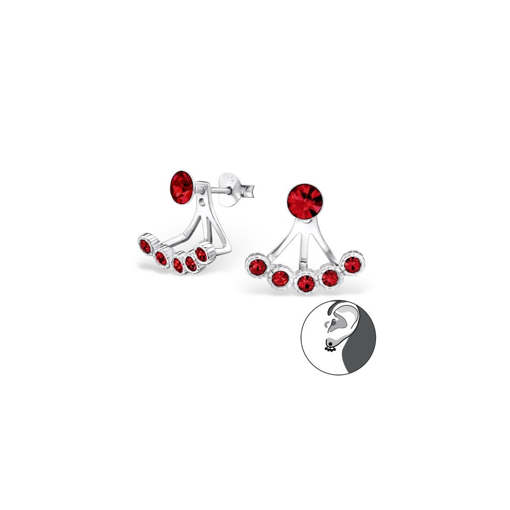 Basic Ear Jackets Ear Jackets Double Earrings 925 Sterling Silver