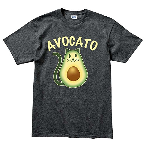 AvocadoAvoCatoCat(Kitten,Kitty)PetT ShirtDHG S Heather Charcoal