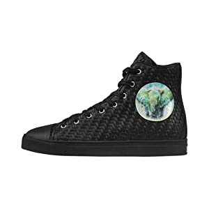 Shoes No.1 Sneakers Fitness Woven Women's Shoes PU Leather Watercolor Tiger For Outdoor