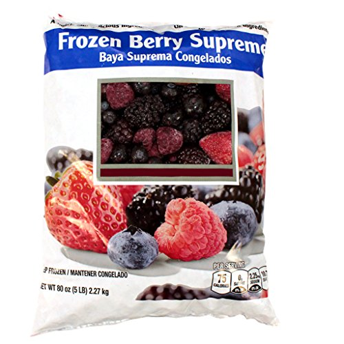 Berry Surpreme, Strawberry/Blueberry/Raspberry/Blackberry/ Individual Quick Frozen, 5 lb, (2 count) by Commodity- Fruit Frozen