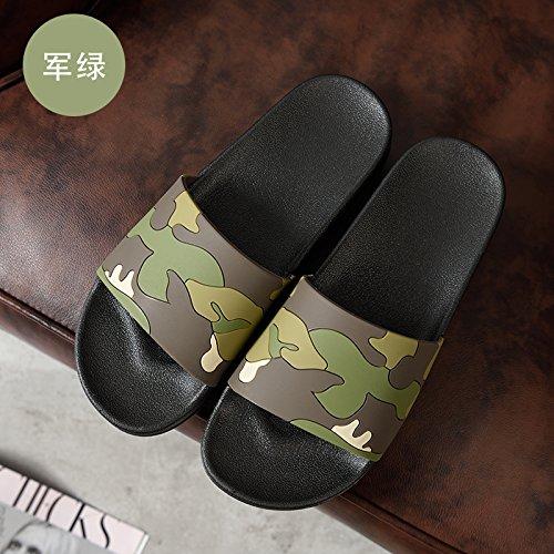 44 pantofole salotto pavimento tuo doccia fresca nbsp;Cool verde pantofole slittamento uomini fondo estate scuro Anti Fankou bagno nel pantofole A a coppie morbido femminile estate 10wf7w