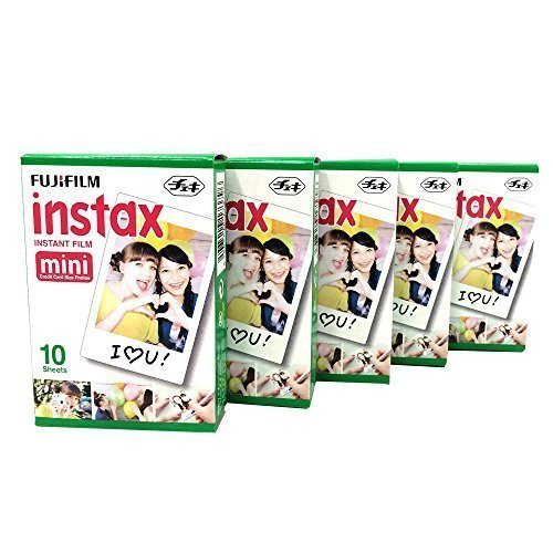 Buy now Fujifilm Instax Mini Instant Film, 10 Sheets×5 Pack(Total 50 Shoots)