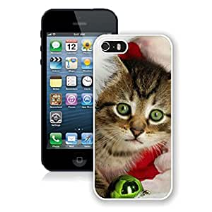 Hot Sell Green Eyes With Christmas Jingling Bell Iphone 5s Case,Phone Case For Iphone 5,Iphone 5 White TPU Cover