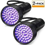 2-Pack UV Flashlight Black Light, FOLKSMATE 51 LED 390-395 nm...