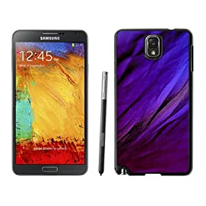 Fashionable Custom Designed Samsung Galaxy Note 3 N900A N900V N900P N900T Phone Case With Purple Fabric Texture Closeup_Black Phone Case
