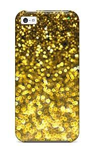 KCBozMJ1062WpVfu Case Cover Protector For Iphone 5c Glittery Gold Case