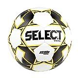 Select Viking Soccer Ball, White/Black/Yellow, Size 5