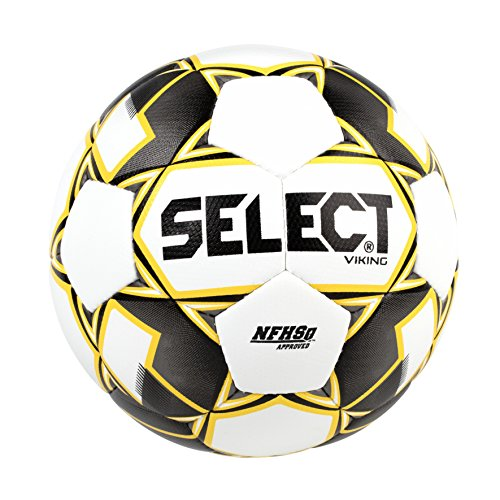 Select Viking Soccer Ball, White/Black/Yellow, Size 5 by Select