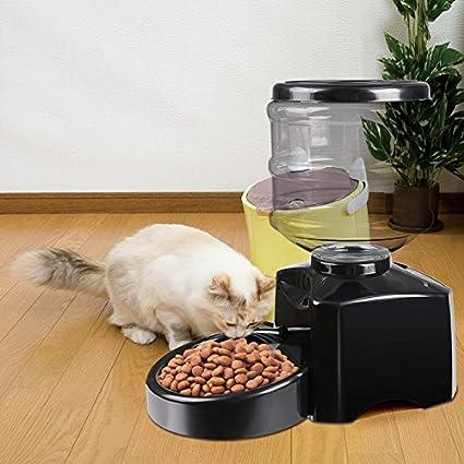 AIMADO Alimentador Comedero Automático Electronico para Perros, Gatos y Mascotas, Dispensador de Comidas,
