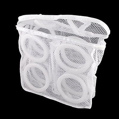 PIXNOR Zapatillas zapatos tenis lavandería lavado bolsa (blanco ...