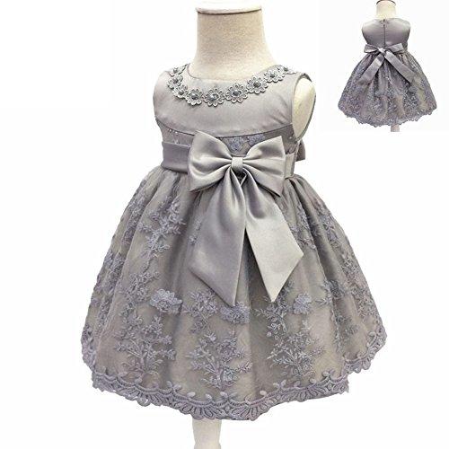 LZH Baby Girls Birthday Christening Dress Baptism Wedding Party Flower Dress for Newborn -