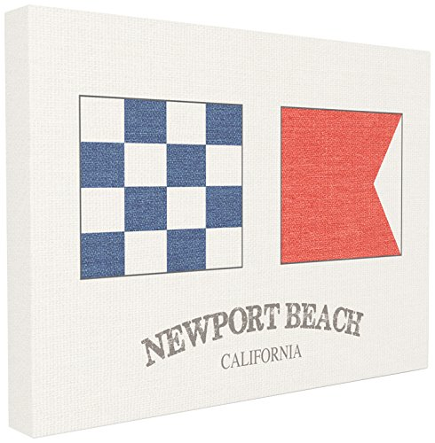 The Stupell Home Décor Collection Newport Beach Nautical Flags Stretched Canvas Wall (Newport Nautical Decor)