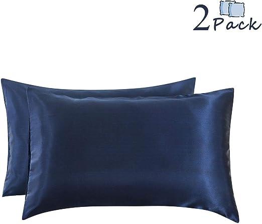 Amazon Com Ethlomoer 2 Pack Luxury Smooth Satin Pillowcase For