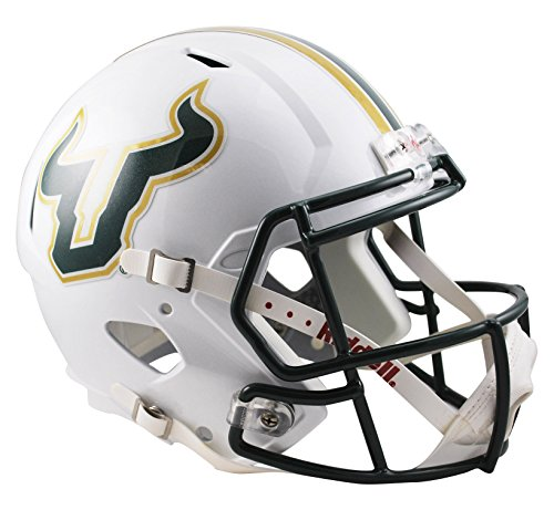 NCAA South Florida Bulls Full Size Speed Replica Helmet, Green, Medium by Riddell