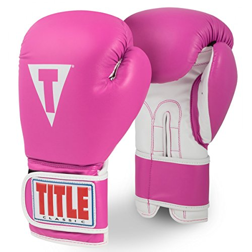 (TITLE Classic Pro Style Training Gloves 3.0, Hot Pink/White, 12 oz)