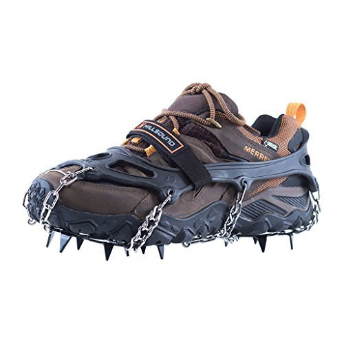 (Hillsound Trail Crampon Traction Device, Black, Medium)