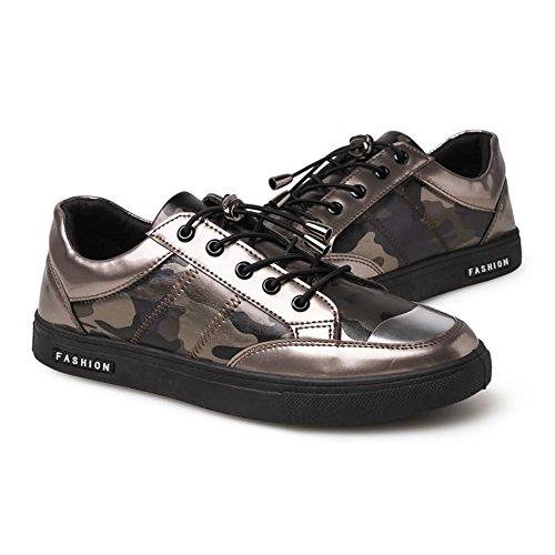 Pelle Scarpe Verniciata Uomo Sneaker Tacco Alto Scarpe Gold da da Uomo in Cricket con Sportive da gXX7qAI