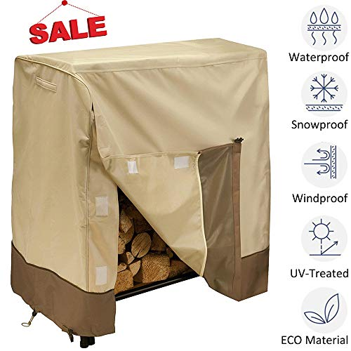kdgarden Outdoor Patio Furniture Cover Heavy Duty 600D Waterproof Canvas Cover for All Weather Protection, Beige and Brown