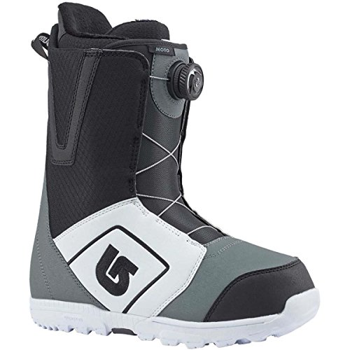 Burton Mens Moto Boa Snowboard Boot, White/Black/Gray, 11