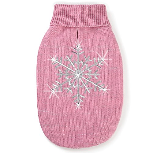 """Zack & Zoey Shimmer Night Snowflake Sweater for Dogs, 10"""" X-"""