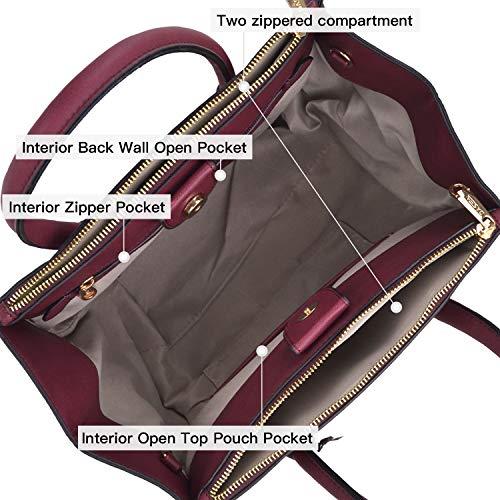 Dasein Women Winged Handbags Designer Shoulder Bag Structured Tote Satchel Purses by Dasein (Image #6)