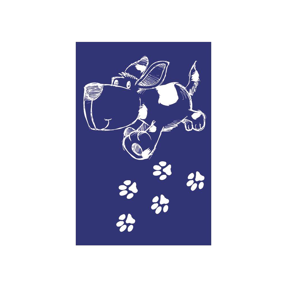 RAYHER Stencil, cane, DIN A5, gomma, blu, 26x 16.10x 0.2cm, 4unità 26x 16.10x 0.2cm 4unità Rayher Hobby GmbH 4505100