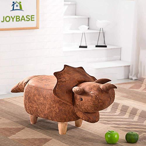 JOYBASE Dinosaur Ottoman, Animal Footstool, Footrest Stool, Ride-on Decorative Furniture Dinosaur