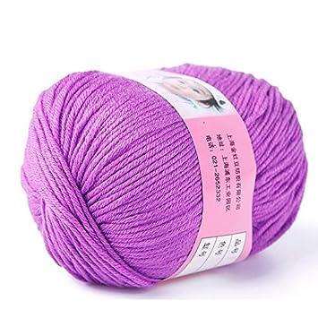 Janedream 1 Stück Naturseide Baumwolle Pullover Soft Garn