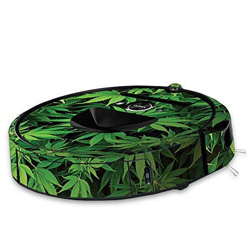 MightySkins Skin for iRobot Roomba i7 Robot Vacuum - Weed | Protective, Durable, and Unique Vinyl Decal wrap Cover | Easy to Apply, Remove, and Change Styles | Made in The USA