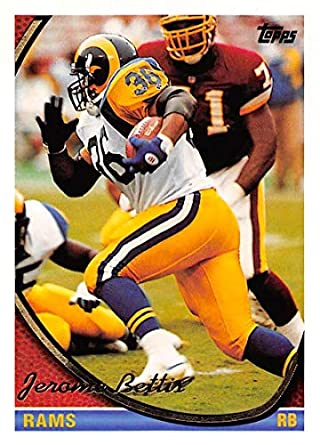 fee02090 1994 Topps Football Card #100 Jerome Bettis Los Angeles Rams Official NFL  Trading Card