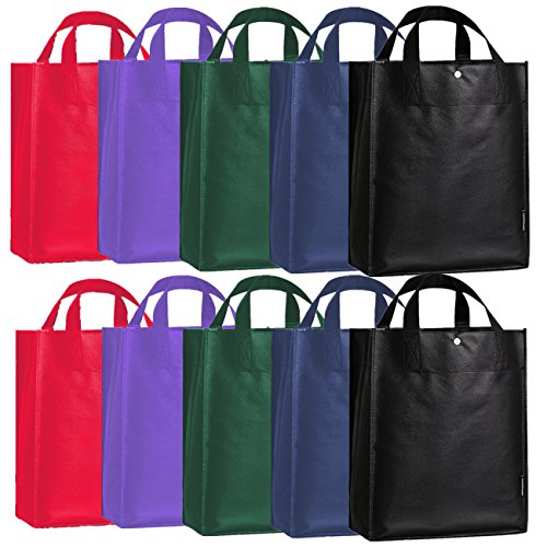FLYCOOL Reusabble Folding Tote Shopping Bag Grocery Tote (Woven Snap)
