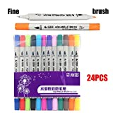 Dual Tip Brush Marker Pens Pen for Adults children Painting water color pen
