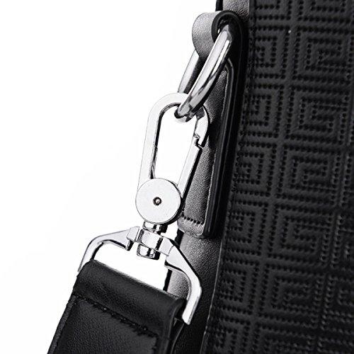Business purpose Leisure Messenger Men's Black Multi Backpack Handbag Travel Pack Laidaye Shoulder wI48WwB