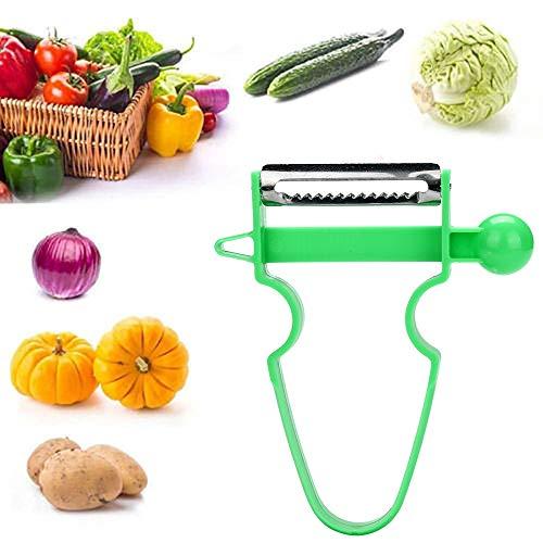 - SHJNHAN 1/3/4/5 pcs Potato Peeler Fruit Vegetable Spud Speed Slicer Cutter (Green)