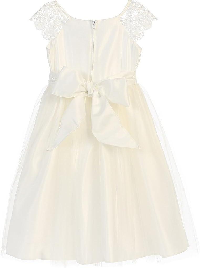Dreamer P Lace Sleeve Pearl Brooch Easter Princess Flowers Girls Dresses