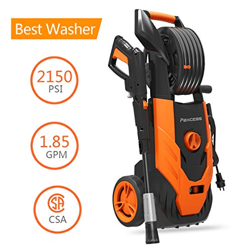 PAXCESS Electric Pressure Power Washer 2150 PSI 1.85 GPM with Spray Gun, Adjustable Nozzle, Hose Reel