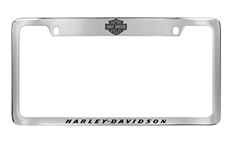 Amazon.com: Harley-Davidson License Plate Frame Holder With Bar ...