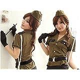 """el personal de la mujer uniforme militar, policial traje de 7 pedazos del traje de las senoras de """"talla única para todos"""